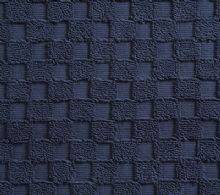 Luxurious linenHall, 850gsm 100% Cotton Reversible Bath Mat in Dark Blue